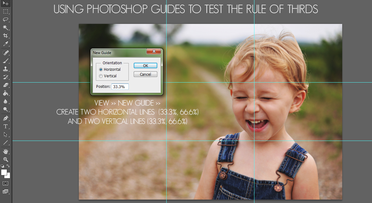 rule of thirds photoshop guidelines how-to