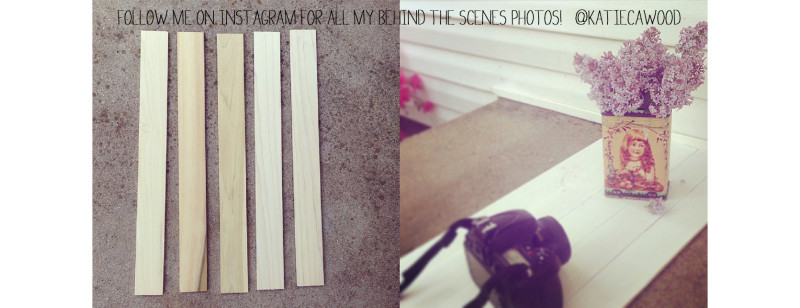 DIY Photography Backdrop - Wooden Slats