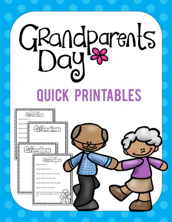 Grandparents' Day Printables for Pre-K & Kindergarten