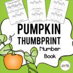 Pumpkin Thumbrint Number Book for Pre-K