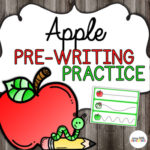 Apple pre-writing practice