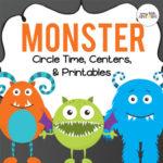Preschool monster theme theme pack