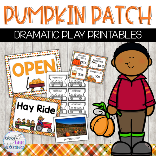Preschool pumpkin theme - pumpkin patch dramatic play