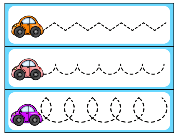Car FIne Motor Pre-Writing for Preschool