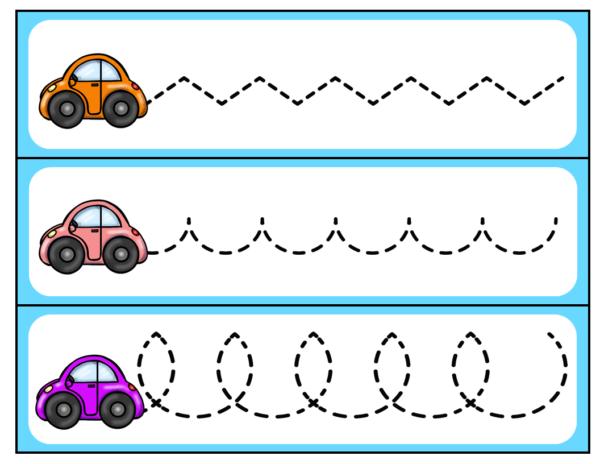 Car FIne Motor Pre-Writing for Preschool