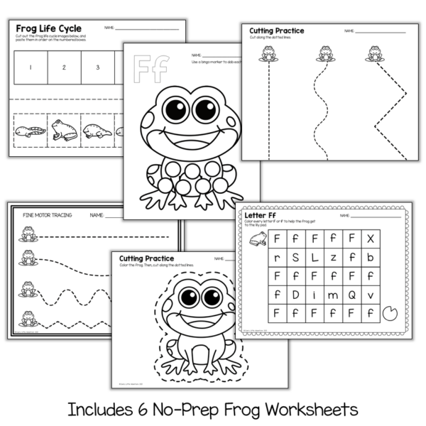 Preschool Frog Theme Circle Time, Centers, and Printables by Every Little Adventure